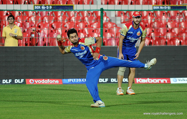 Virat Kohli | Virat about to nail the stumps during fielding