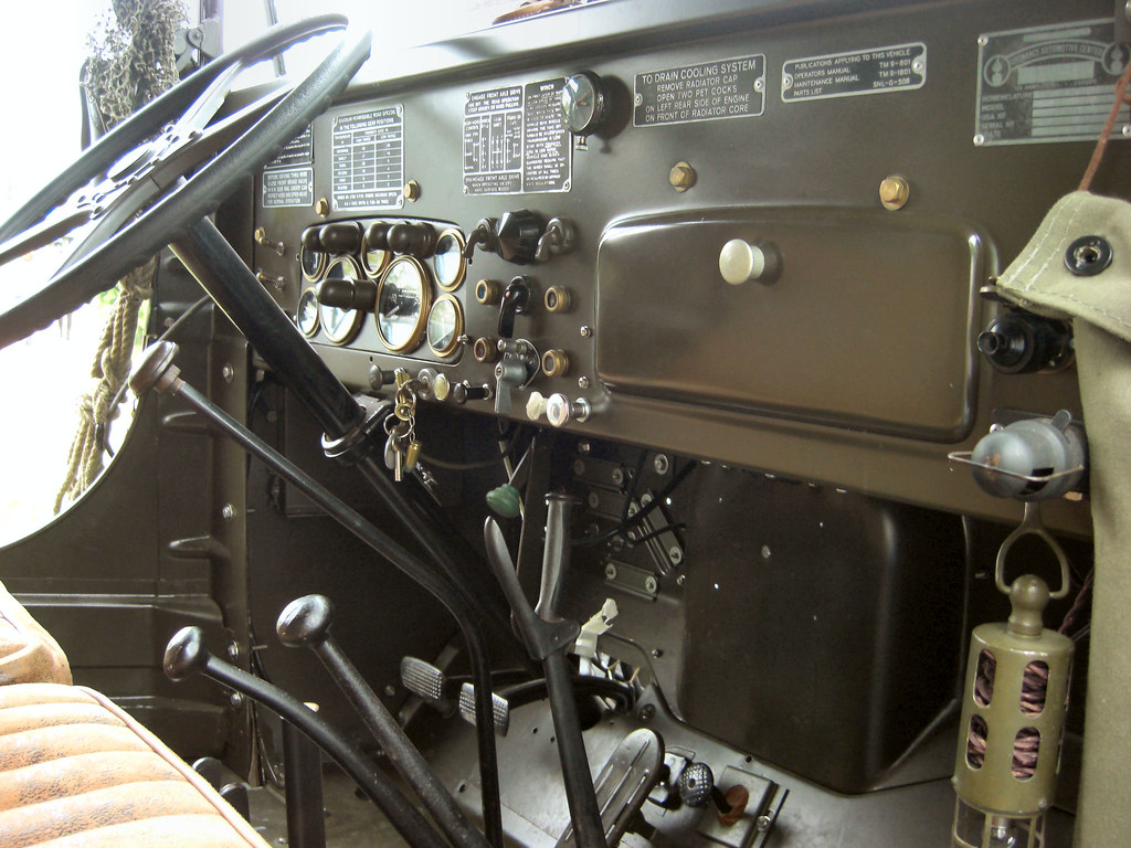 ww2 us army gmc cckw truck inside the cab of a us army ww2 flickr. Black Bedroom Furniture Sets. Home Design Ideas