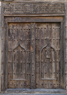 Old door in Mirbat, Oman | by Eric Lafforgue