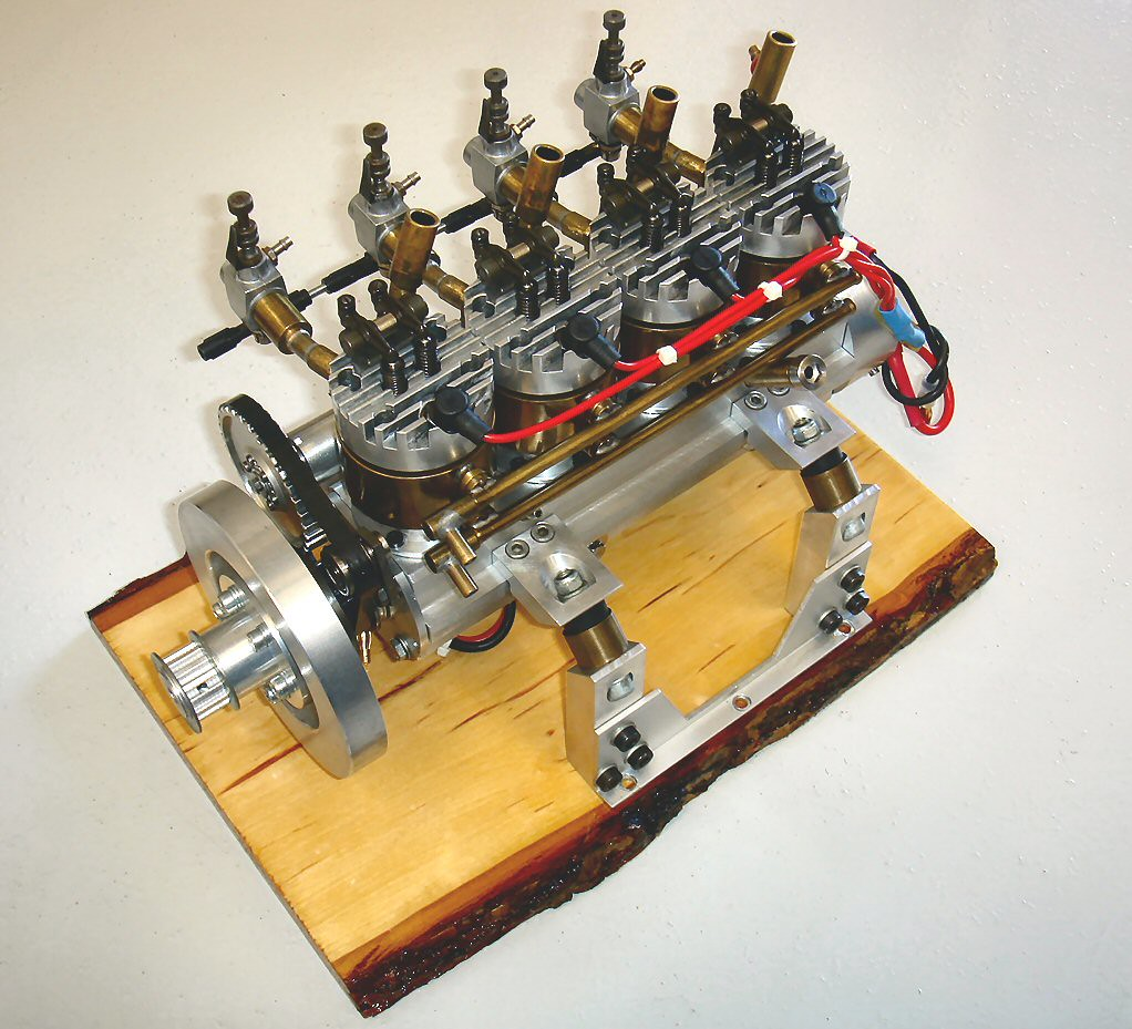 4 Cylinder 4 Cycle Inline Boat Engine, Builder Unknown, Da ...