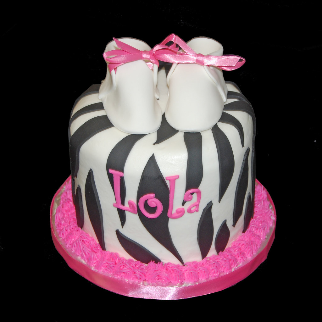 Baby Shower Decorations Zebra And Pink ~ Black and white zebra with hot pink baby shower cupcake to