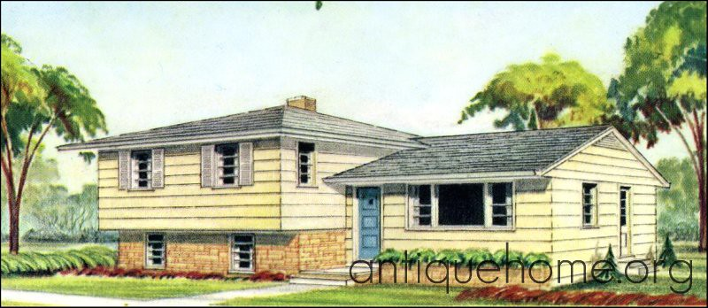 the split level house plan liberty kit homes 1960 more