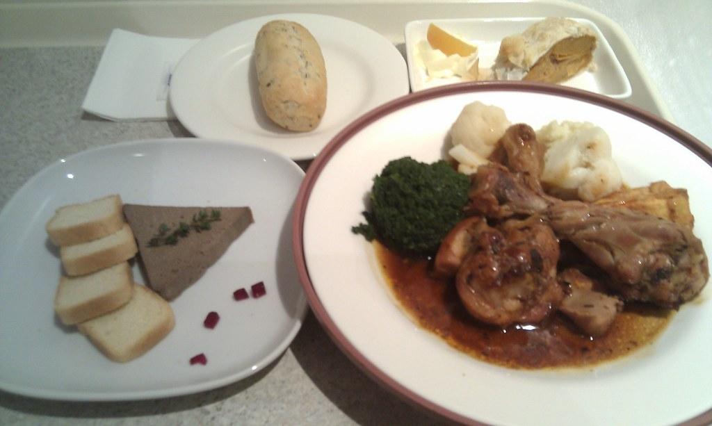 Chicken Liver Pate with port wine jelly, braised chicken i ...