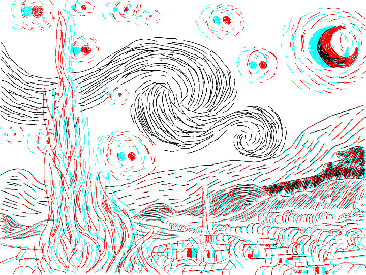 how to make anaglyphic effects from cad drawing