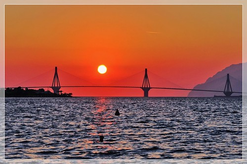 The sun and the bridge | by n.pantazis