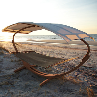 Wooden Arc Stand Canopy And Hammock Designedforoutdoors
