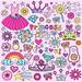 Cute Princess Notebook Doodle Design Elements Illustration by blue67design