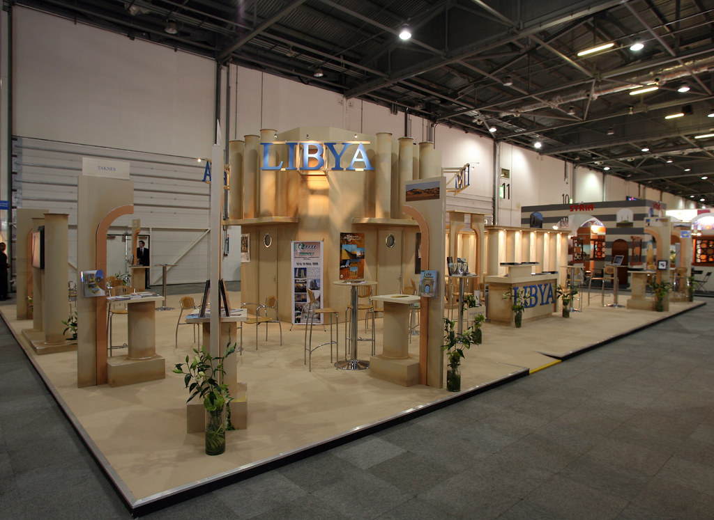 Custom Exhibition Stand Up : Libya custom built exhibition stand