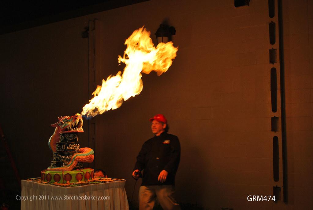 Birthday Cake Onfire