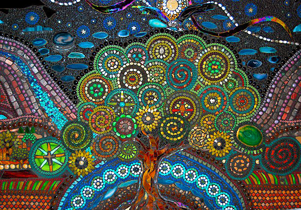 Jaq S Tree Of Life Back Splash 3 Ft By 5 Ft Mosaic