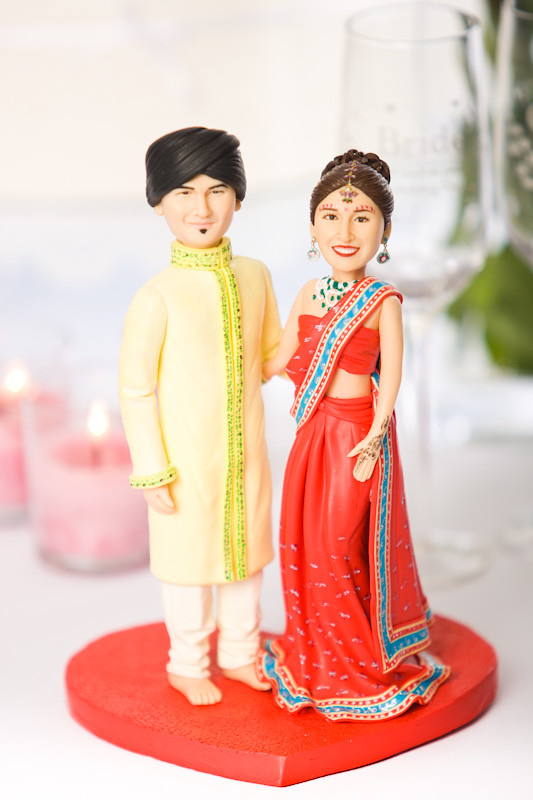hindu wedding cake toppers indian wedding cake topper front view an example 15241
