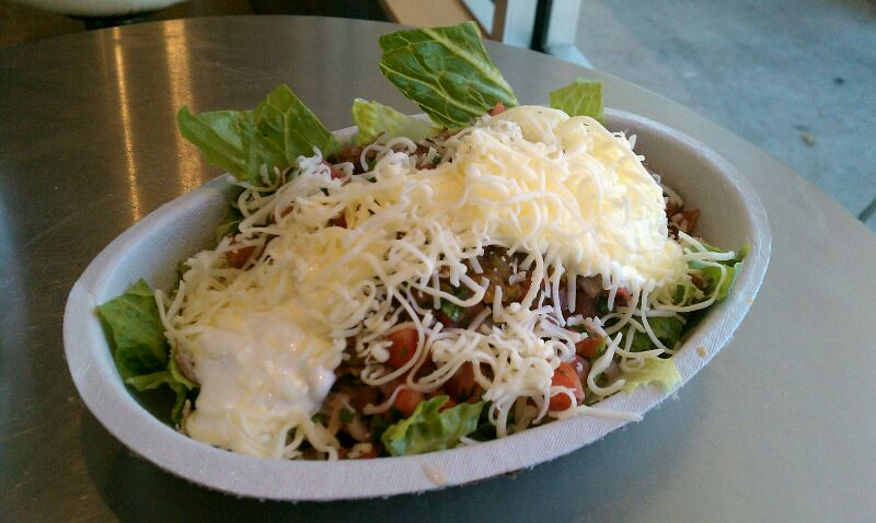 Salad Bowl - Carnitas & Barbacoa @ Chipotle Mexican Grill ...
