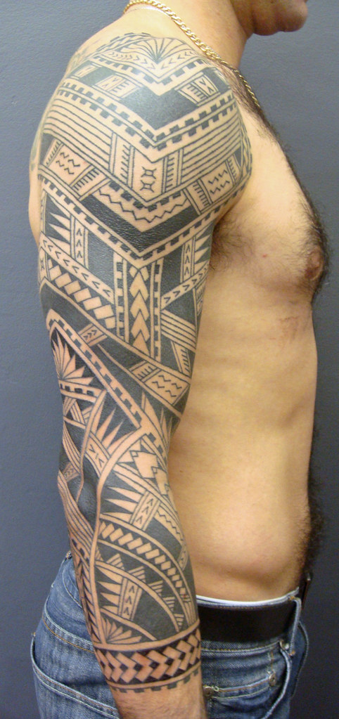 polynesian sleeve tattoo koru tattoo flickr. Black Bedroom Furniture Sets. Home Design Ideas