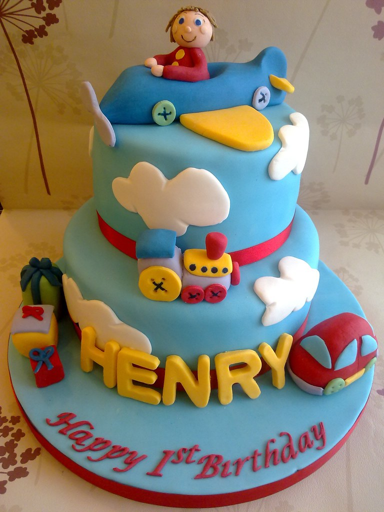 Birthday Cake Design For A Baby Boy : One Special Boy Birthday Cake www.creationsbypaulajane ...