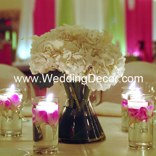 Wedding centerpiece hydranga calla lilies a