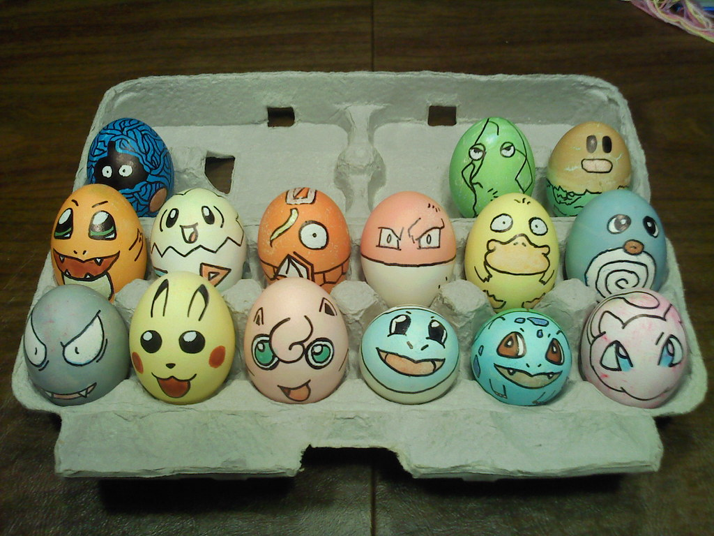 Pokmon Easter Eggs 2011 A Twist On Traditional