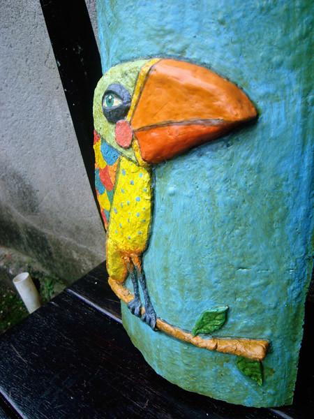 Aparador De Pelos Nariz E Orelha ~ Passarinho Artesanato com papel mache em telha Ednei Pohkan da Veiga Flickr