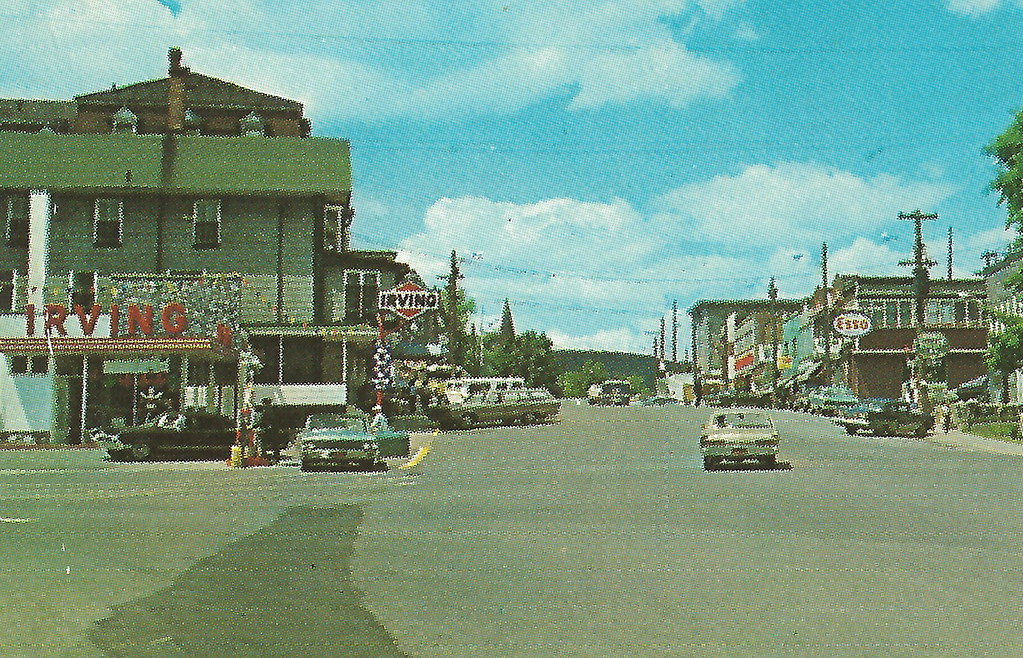 Irving Gas Card >> CAN Edmundston NB CANADA Circa 1960 Downtown View Stores B… | Flickr