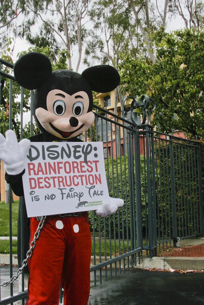 Mickey Mouse Protests ...