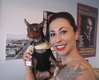 "Angie Pontani and her ""date"" visit the Coney Island History Project on Deno's Wonder ... - 5825082194_3ae55eec51_n"
