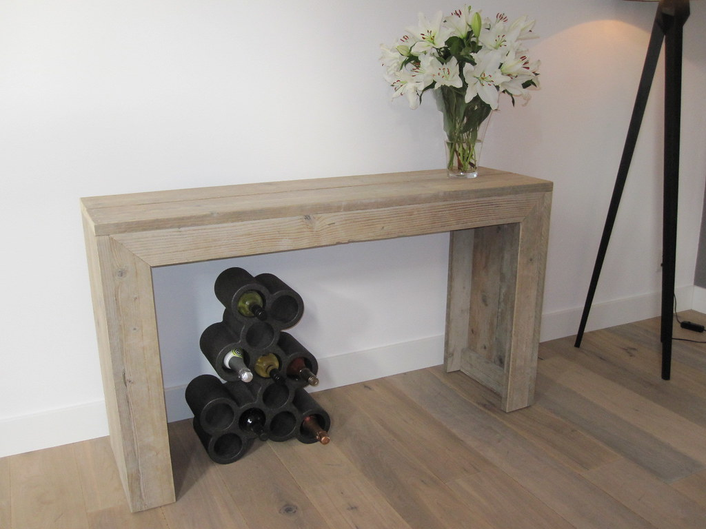 Sidetable van gebruikt steigerhout steigerhout te koop for Sidetable steigerhout