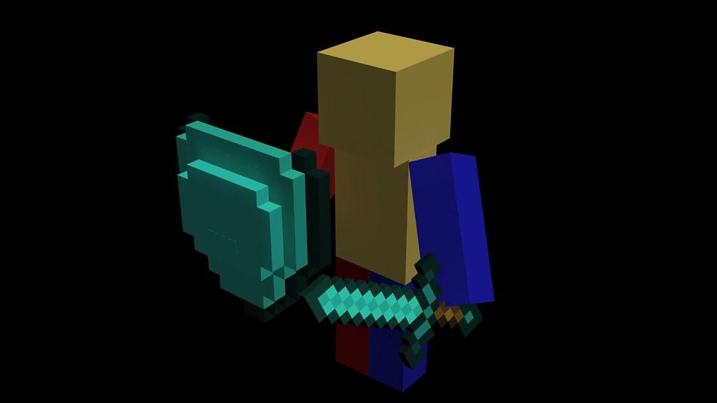 how to make diamond shield in minecraft