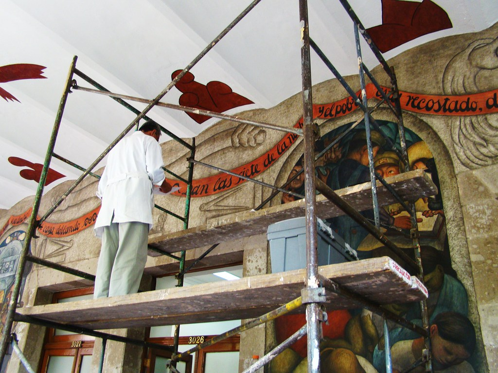 Mexico city secretary of public education building res for Education mural