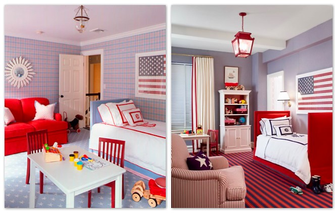 Red White And Blue Boys Room