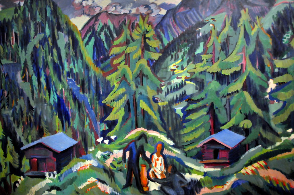 Ernst Ludwig Kirchner Mountain Landscape From Clavadel A