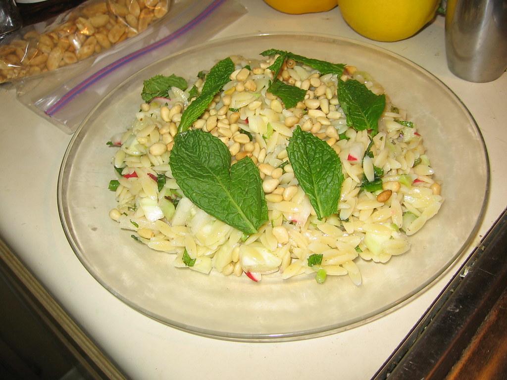 Orzo Salad With Feta Mint Basil Honey Lemon Food Network