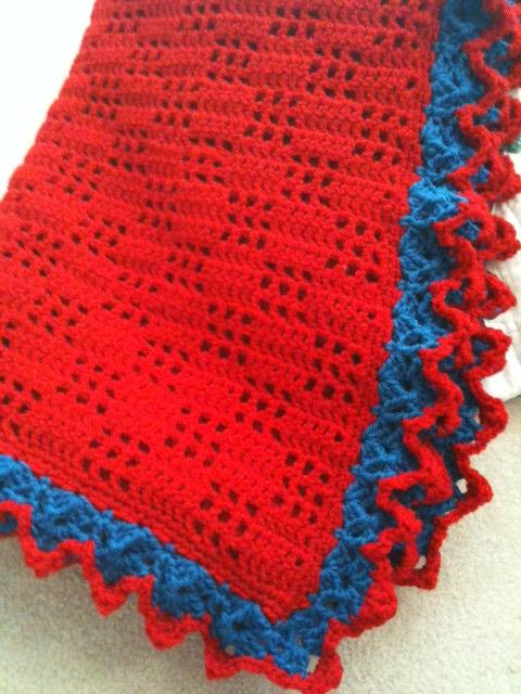 Knitted Popcorn Stitch Afghan : austyns blanket Bev Matheson Flickr