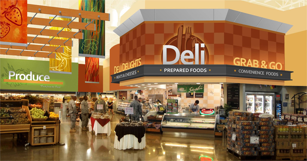 Interior Market Rendering | Grocery Store Design |Interior ...