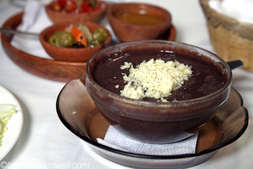 Sopa de Frijoles with cheese! | by Boots in the Oven