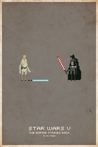 Empire Strikes Back Pixel Poster | by slaterman23