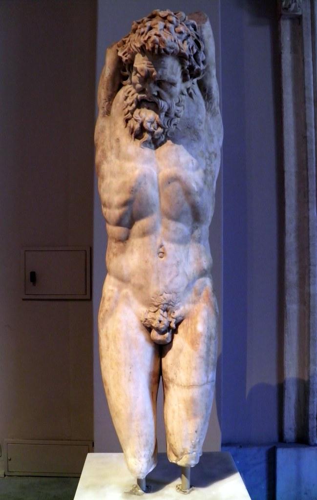 Statue Of Marsyas Under Apollo S Punishment Roman Period