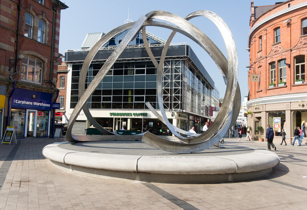 The Spirit of Belfast is a public art sculpture by Dan Geo ...
