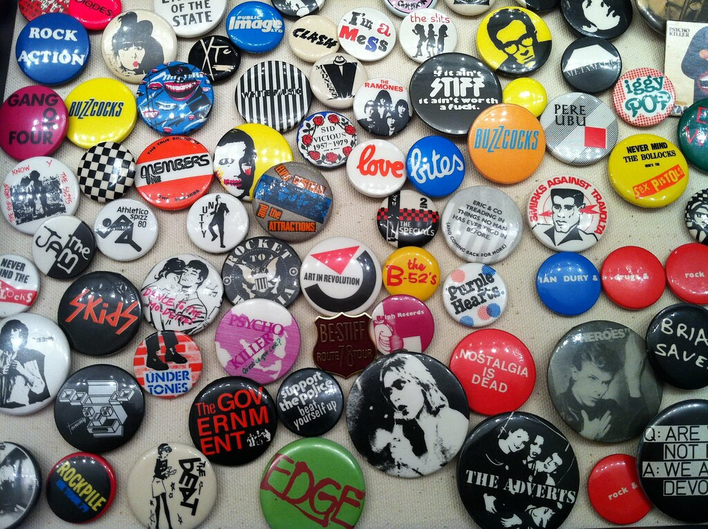 Punk Rock Button Collection I Didn T Save A Lot From My