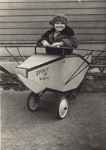 Girl in toy Spirit of St. Louis, 1927 | by Missouri History Museum