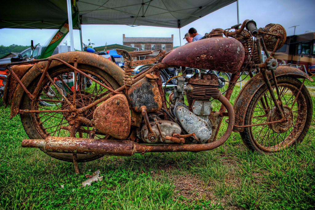 Barn Find Taken At The Antique Motorcycle Club Of