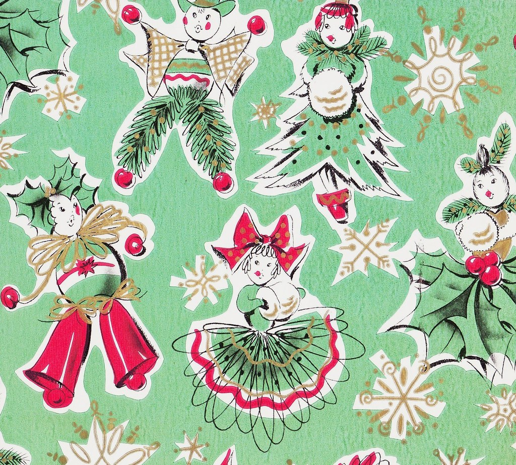 Vintage Gift Wrap Christmas Dolls | Heather David | Flickr
