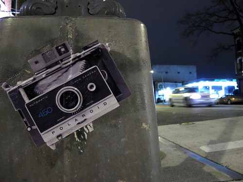 Polaroid Sticker on Lamppost | by Mr.TinDC