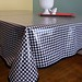 Black and White Hound's Tooth Tablecloth Laminated Cotton