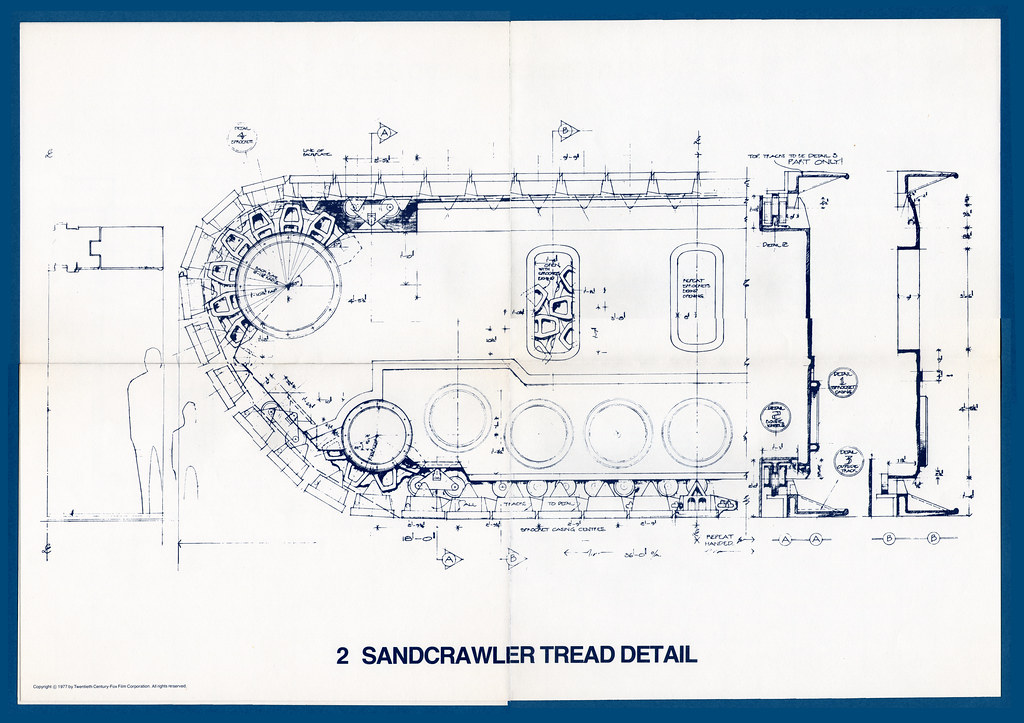 Star Wars Blueprints 02 Sandcrawler Tread Detail Flickr