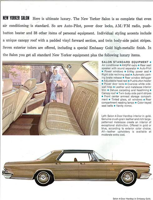 1964 chrysler new yorker salon 4 door hardtop flickr for 1964 chrysler new yorker salon