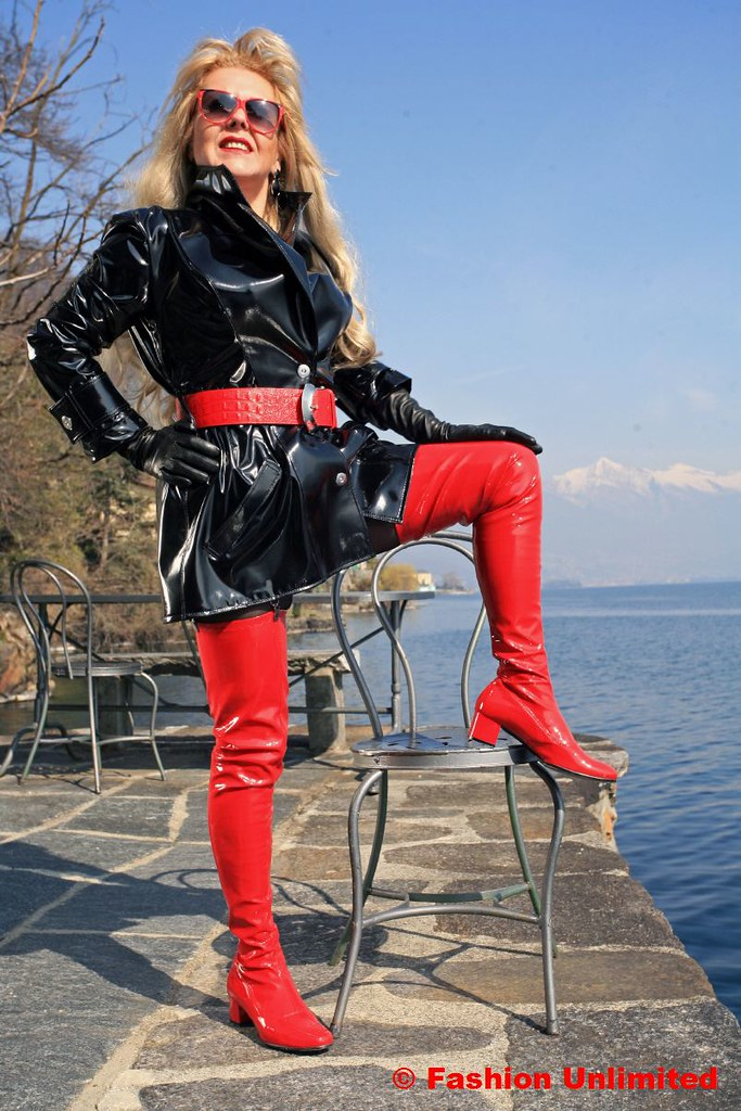 60s red patent thigh boots by miceli wwwfashion