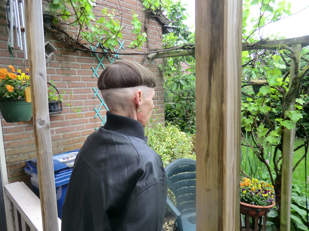 Haircuts Women Bowl Cuts with Shaved Napes