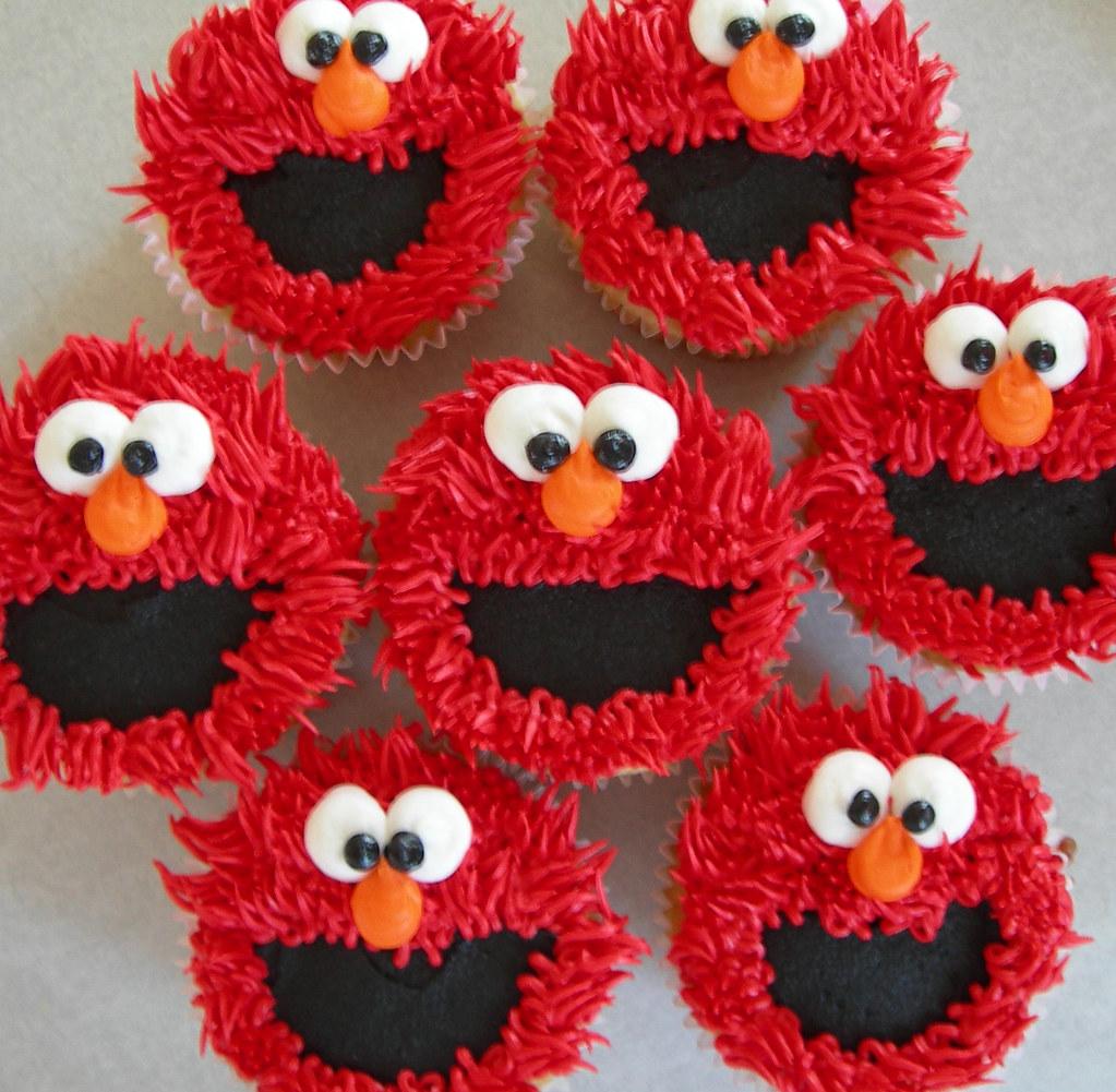 Elmo Cupcakes Jen Hanna Flickr