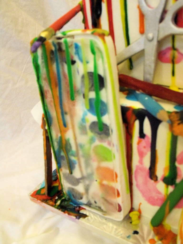 Cake Artist Barbarann : art cake , edible paint box I made this cake for my ...