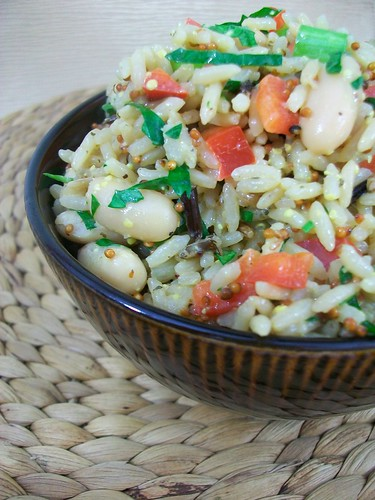 Wild Rice and Cannellini Bean Salad with Dijon Vinaigrette | by britton618