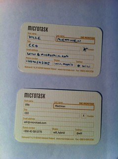 Microtask business cards | by wili_hybrid